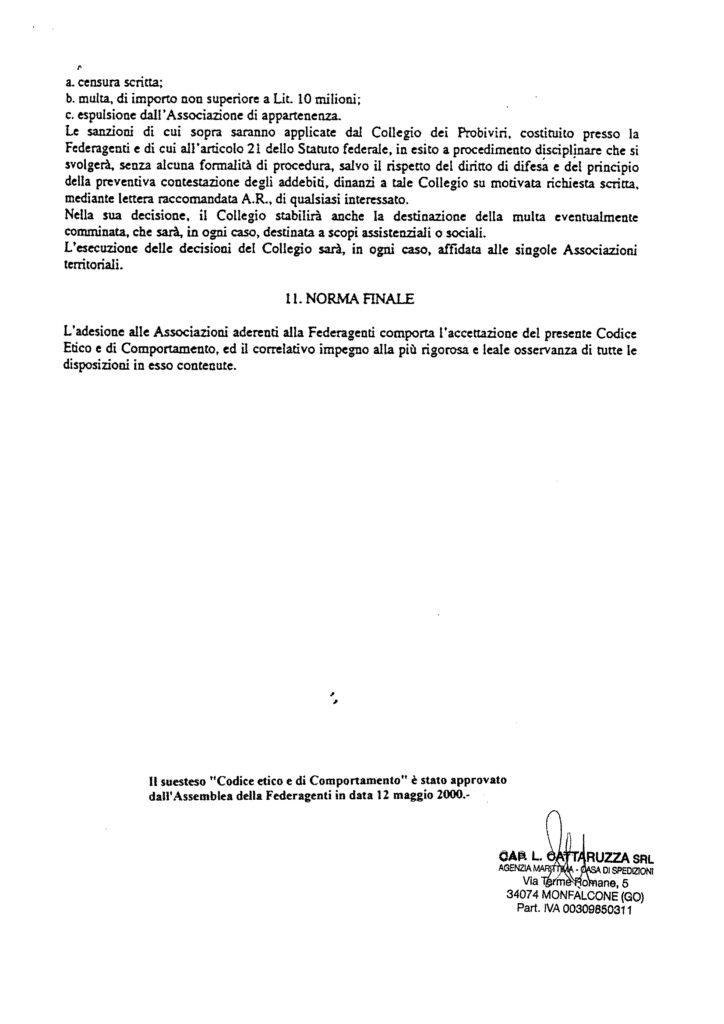 Codice Etico Federagenti